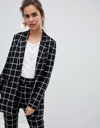 B.Young Check Suit Blazer Black Check