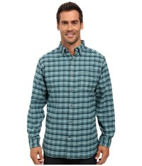Mountain Khakis Downtown Flannel Shirt Deep Jade Men's Clothing Navy
