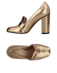 Luca Valentini Loafers Gold