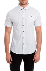7 Diamonds Men's Formation Spot Woven Shirt White