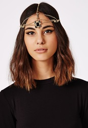 Missguided Bae Chain Feature Headband Gold
