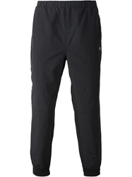 Stussy Mesh Stripe Track Pants Black