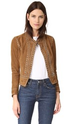 Derek Lam Studded Suede Jacket Military