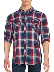 Buffalo David Bitton Plaid Cotton Shirt Agate