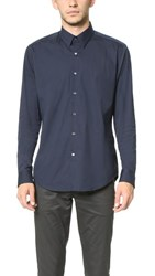 Theory Sylvain Solid Dress Shirt Eclipse
