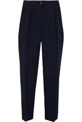 See By Chloe Tapered Crepe Pants Navy