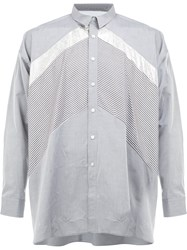08Sircus Contrast Panel Shirt Grey