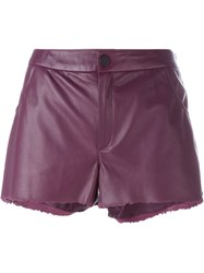 Drome Leather Shorts Pink And Purple