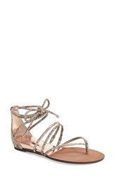 Women's Vince Camuto 'Adalson' Strappy Thong Sandal Rosey Bronze Leather