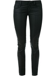 Strateas Carlucci Panel Leather Pants Black