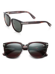 Tom Ford Rock 55Mm Wayfarer Sunglasses Tortoise Black Brown
