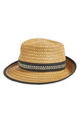 Women's Eric Javits Fedora Beige Natural Black Mix
