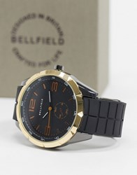 Bellfield Watch With Gold Edge Black
