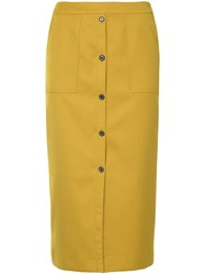 Guild Prime Button Front Skirt Yellow And Orange