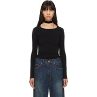 Junya Watanabe Black Stretch Jersey Long Sleeve T Shirt