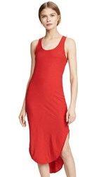 Nation Ltd. Ltd Alina Shirttail Tank Dress Cherry