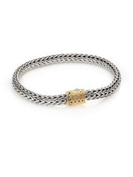 John Hardy 18K Gold Accented Sterling Silver Chain Bracelet Silver Gold