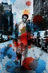Parvez Taj James Dean Nyc Wall Art Black Blue Grey