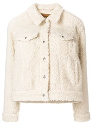 Levi's Faux Shearling Jacket Nude And Neutrals