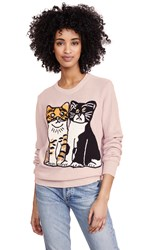 Michaela Buerger Kitties Sweater Light Pink Multi