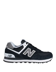 New Balance W574 Classic Suede Lace Up Sneakers Black White