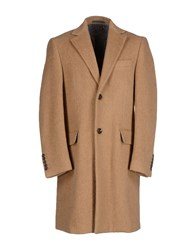 Class Roberto Cavalli Coats And Jackets Coats Men Camel