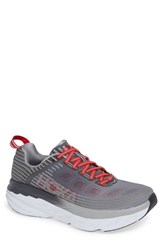 Hoka One One Bondi 6 Running Shoe Alloy Steel Gray