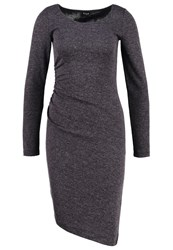 Vila Vigeneral Jersey Dress Dark Grey Melange Mottled Dark Grey