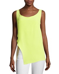 Cnc Costume National Sleeveless Draped Back Top Neon