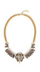 Rebecca Minkoff Statement Necklace Black Diamond Crystal