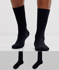 Selected Homme 2 Pack Socks In Black