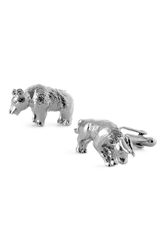 David Donahue 'Bull And Bear' Cuff Links Silver