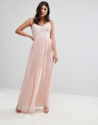 Club L Corset Lace Detail Maxi Dress Pink