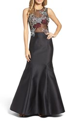 Xscape Evenings Women's Mesh And Mikado Gown