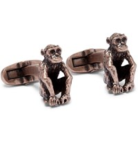 Paul Smith Monkey Burnished Brass Cufflinks Gold