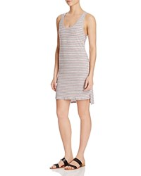 Nation Ltd. Ltd Nelly Stripe Racerback Dress Heather Grey Stripe