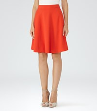 Reiss Hannah Womens A Line Mini Skirt In Red