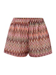 Lipsy Zig Zag Cover Up Shorts Multi Coloured