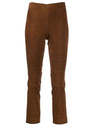 Vince Slim Fit Trousers Brown
