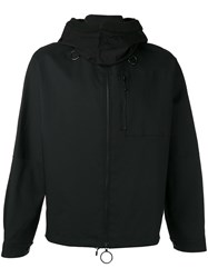 Oamc Hooded Coat Men Cotton Nylon Polyamide Viscose M Black
