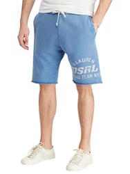 Ralph Lauren Denim And Supply Cotton French Terry Cutoff Sweat Shorts Newcastle Blue