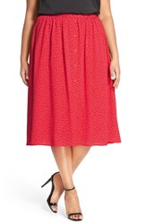 Plus Size Women's Bb Dakota 'Allegra' A Line Midi Skirt