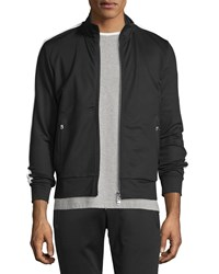 Moncler Zip Up Track Jacket W Side Stripe Black Men's