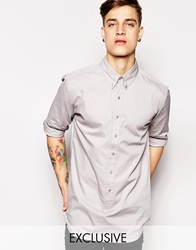 Standard Issue Exclusive Longline Button Down Shirt Grey
