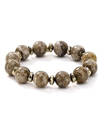 Bourbon And Boweties Stretch Bracelet Brown Gray