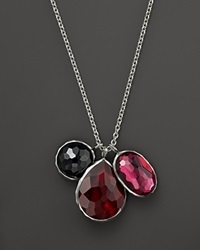 Ippolita Sterling Silver Wonderland 3 Stone Charm Necklace In Harlow 16 Red