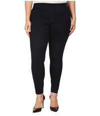 Hue Plus Size Curvy Fit Jeans Leggings Midnight Rinse Women's Casual Pants Black
