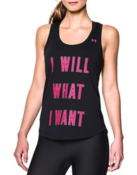 Under Armour I Will What I Want Tank Black