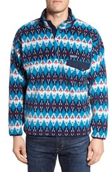 Patagonia Men's 'Synchilla Snap T' Pullover Deep Sea Blue