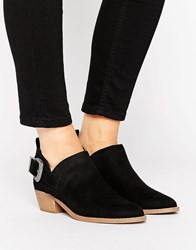 New Look Western Suedette Low Ankle Boot Black